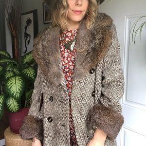 vintage fur/wool coat